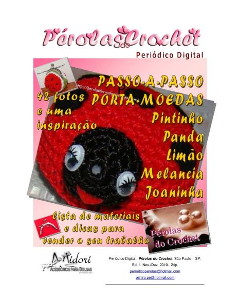Periódico Digital Pérolas do Crochet - 2010 (un)